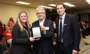 Michelle McDonald, Mike Colle, MPP Eglinton-Lawrence, and Jonathan Burton, chair of BIST