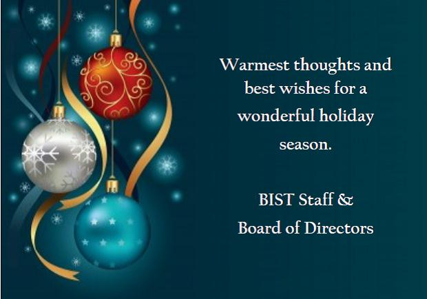Happy Holidays from BIST!