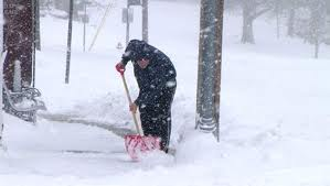 person shovelling snow