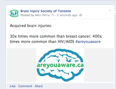 areyouaware Facebook post example