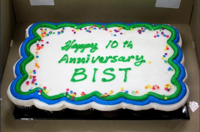 BIST 10 year anniversary cake
