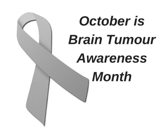 grey ribbon for brain tumour awareness