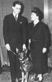 Dorothy Eustis with service dog