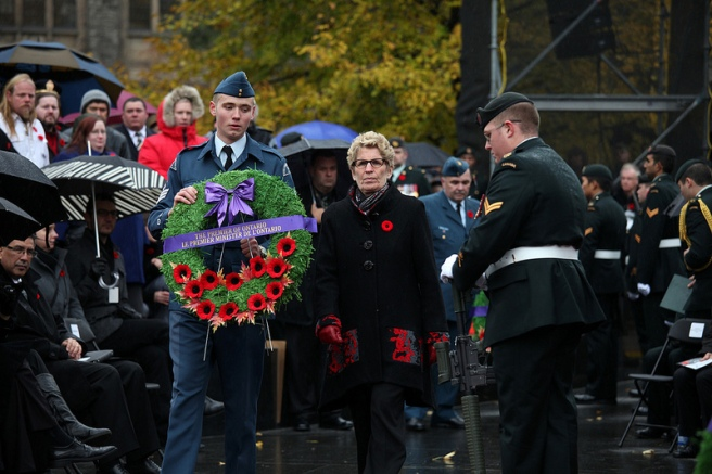 Ontario Premier Kathleen Wynne at Remembrance Day service