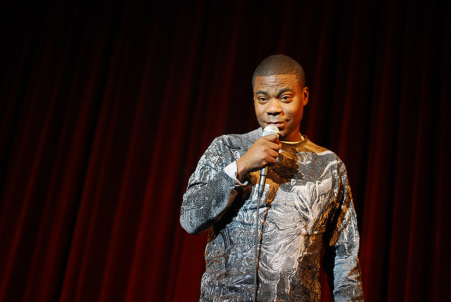 Comedian Tracy Morgan performing on stage