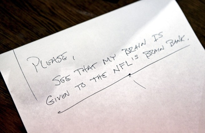Duerson's suicide note. Photo by Marc Serota/The New York Times/Redux