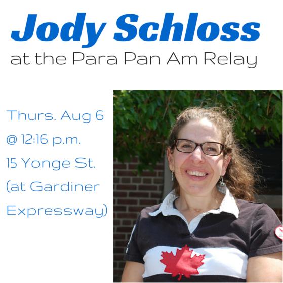 Jody Schloss at the Para Pan Am Relay