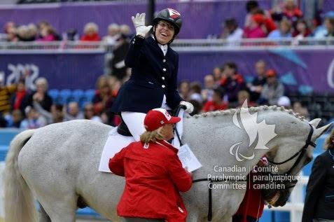 Schloss with Canadian coach Mary Longden