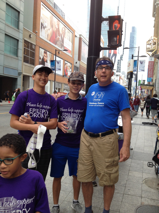 Rob with Buskerfest volunteers