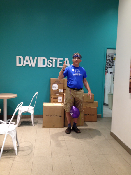 Rob in front of David's Tea.