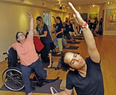 yoga class at rehab centre