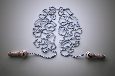 Picture of a jump rope in the shape of a brain