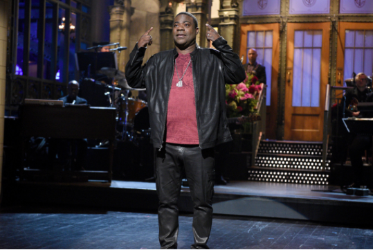 Tracy Morgan on Saturday Night Live stage