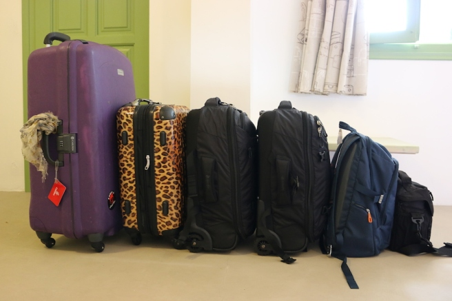 suitcases packed for a vacation
