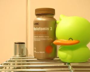 Bottle of melatonin