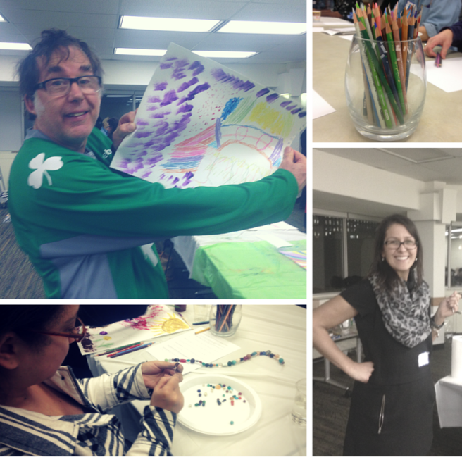 pictures from our art therapy community meeting