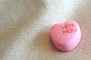 'Not Now' heart shape candy