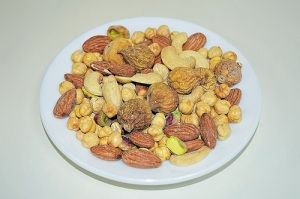 a plate of nuts