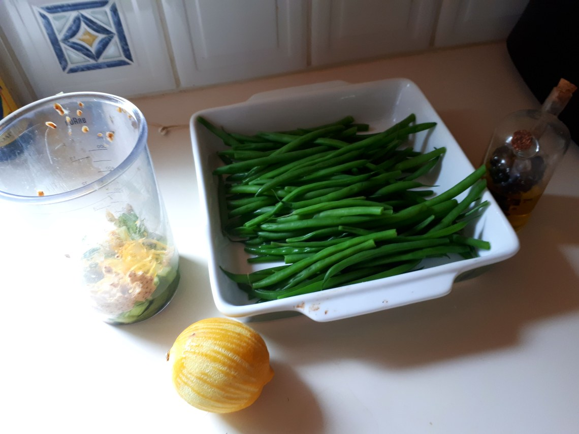 french green beans, freshly blanched