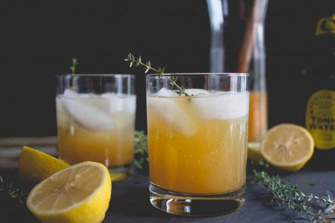 Cider, Thyme + Tonic Mocktail