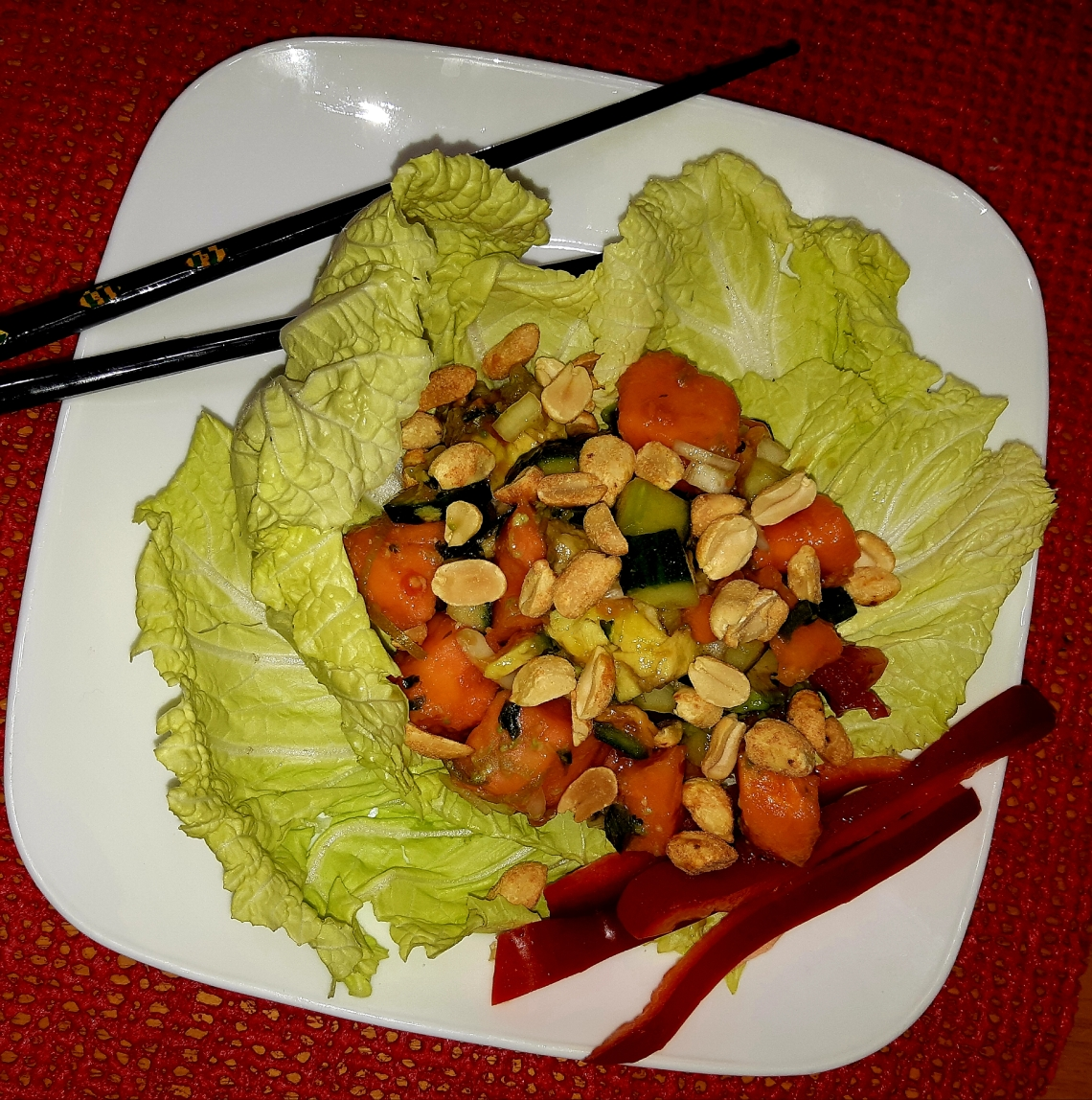 Thai Papaya Avocodo Cucumber Salad