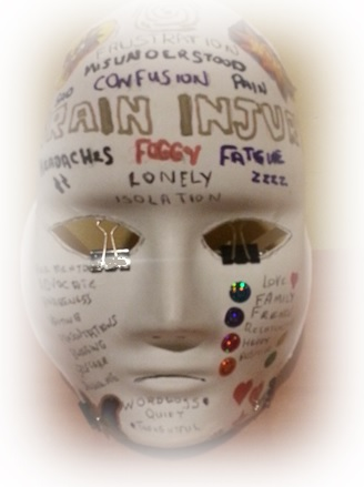Mark Koning's UnMasking Brain Injury Mask