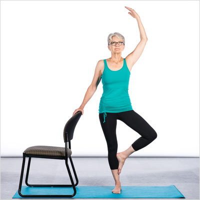 chair tree pose