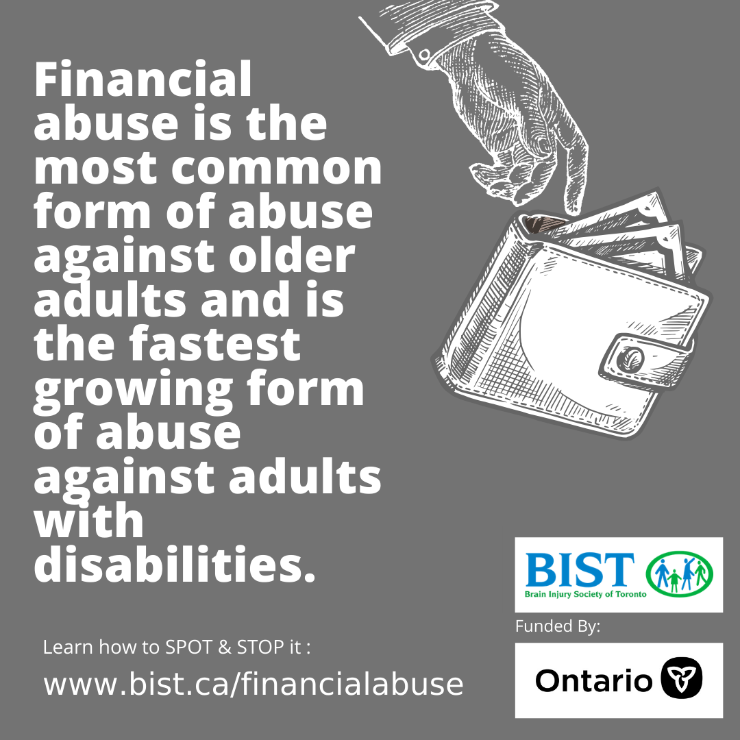 Financial Abuse - fastest growing form of abuse against people with disabilities