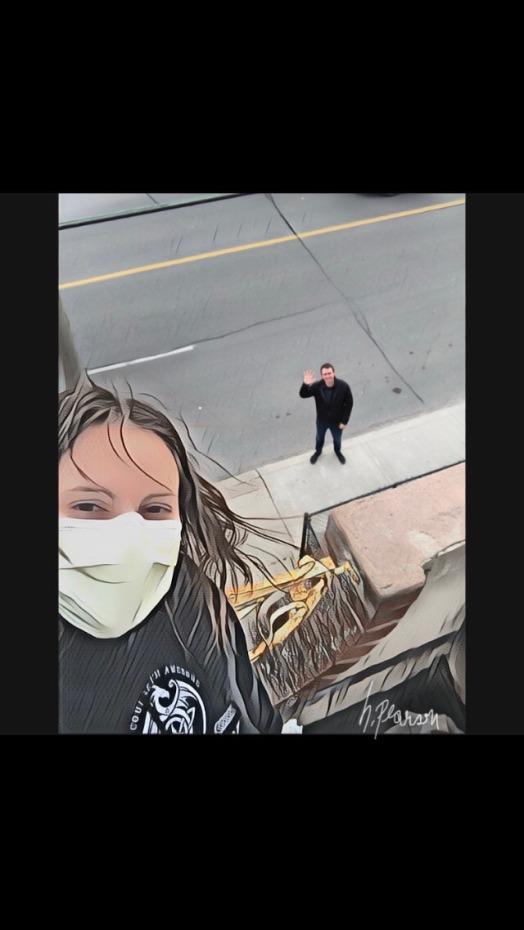 Hilary Social Distancing Selfie